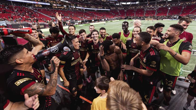Atlanta celebration with fans