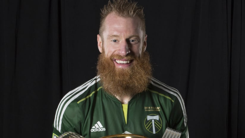 MLS Cup 2015: Nat Borchers with MLS Cup
