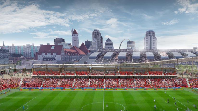 St. Louis stadium rendering