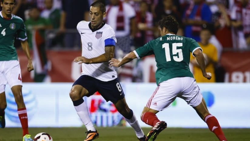 Clint Dempsey in action against Mexico
