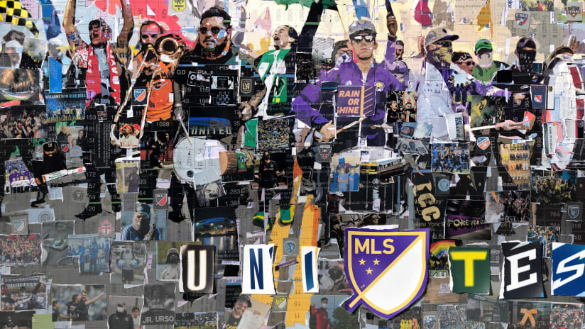 MLS Unites supporters collage