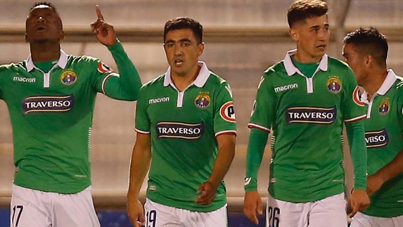 Sergio Santos - Philadelphia Union - celebrating a goal with Audax Italiano