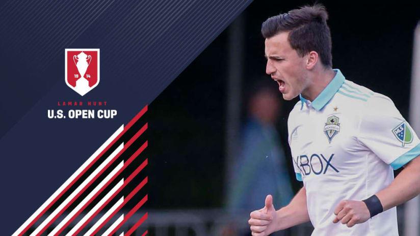 US Open Cup overlay - Aaron Kovar - Seattle Sounders - yelling