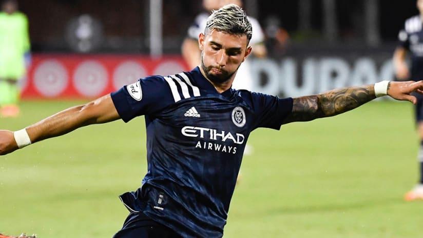 Valentin Castellanos - NYCFC - winds up shot