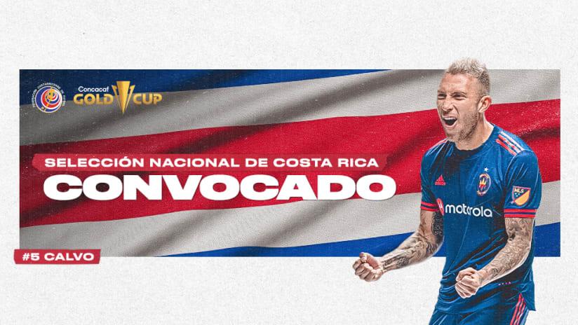 Francisco Calvo Convocado a la Selección de Costa Rica para la Copa Oro Concacaf 2021