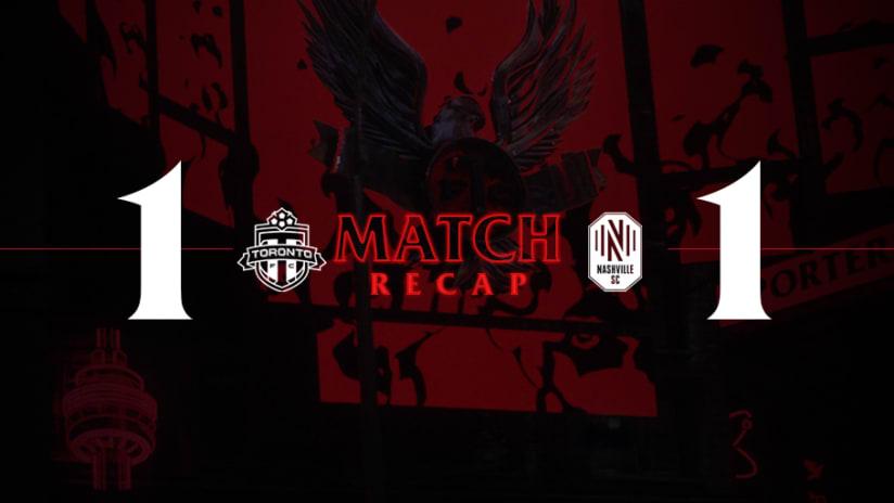 Toronto FC 1, Nashville SC 1   2021 MLS Match Recap