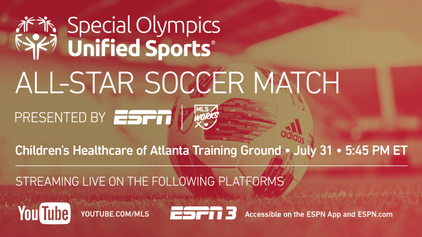 2018 special olympics all star match graphic
