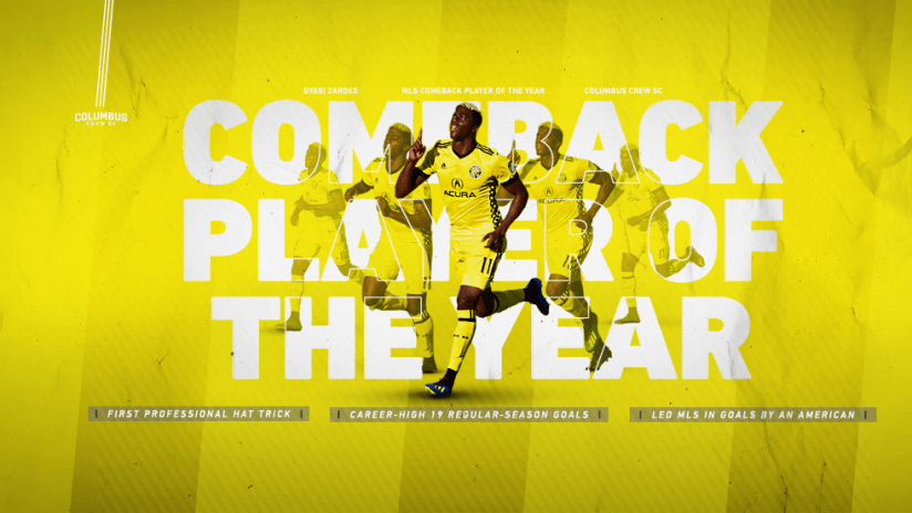Gyasi Zardes - 11.7.18 - Comeback Player of the Year