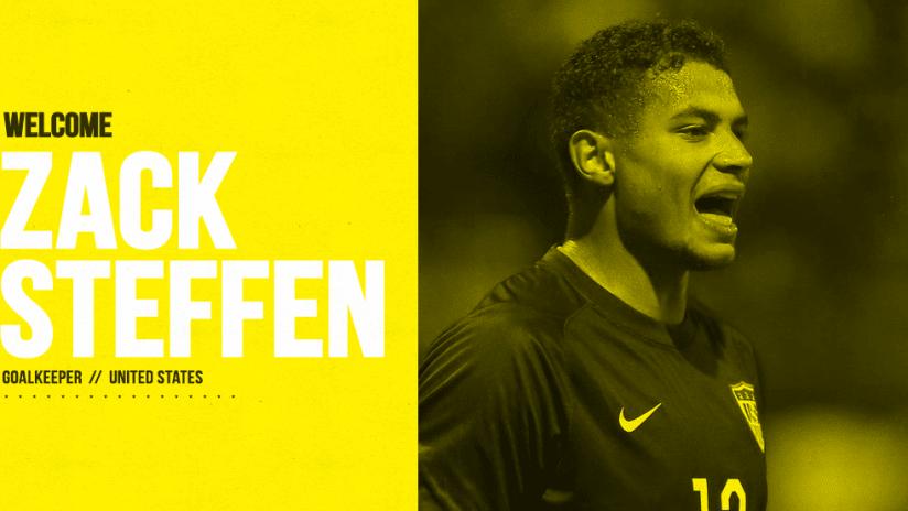 Zack Steffen Welcome