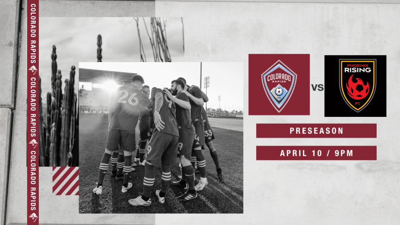 Colorado Rapids Close Out Preseason With Friendly Against Phoenix Rising FC