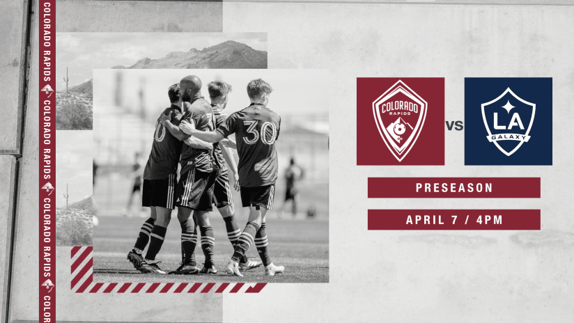 Rapids' Next Preseason Test Comes Wednesday vs Galaxy in Visit Tucson Sun Cup  -