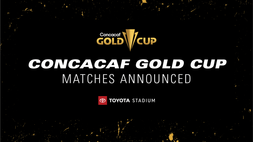 Concacaf Gold Cup Matches Announcement - Dl3