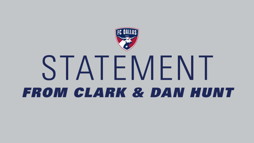 Statement From Clark and Dan Hunt DL3