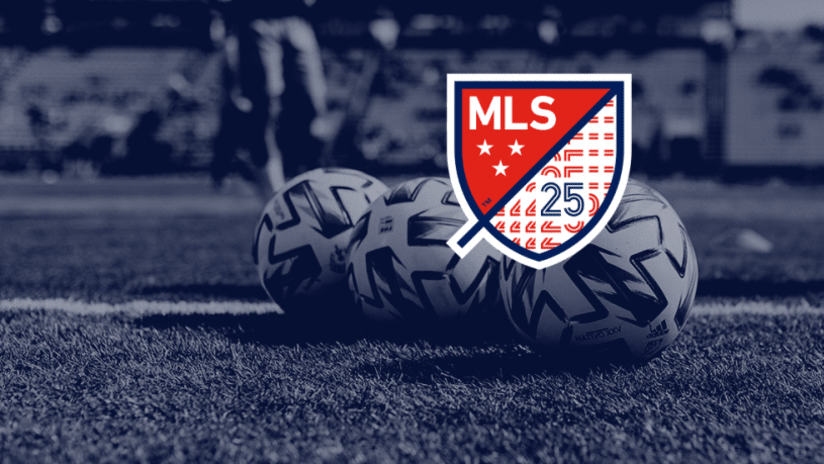 MLS 25th Anniversary logo