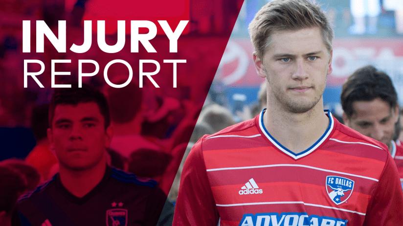 INJURY REPORT: FC Dallas vs Real Salt Lake | 6.2.17
