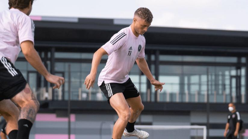Matías Pellegrini in training