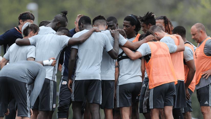Team huddle at training