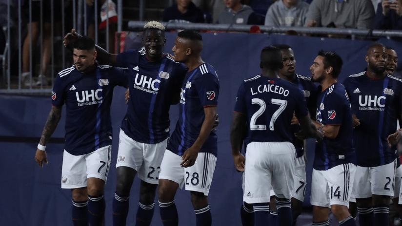 Wilfried Zahibo team goal celebration (2019 primary)