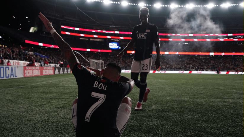 Gustavo Bou goal celebration (2019 primary)