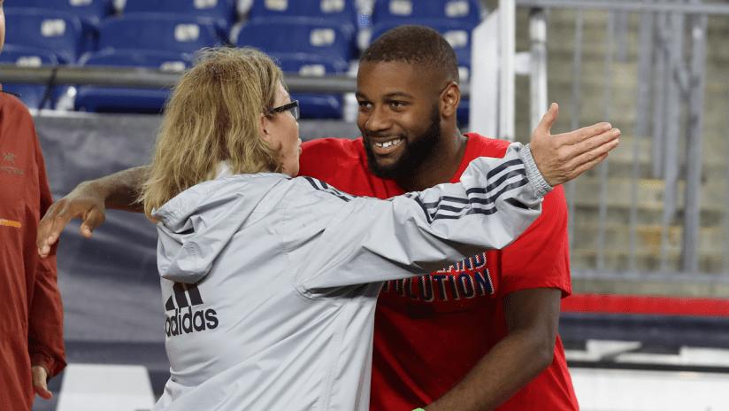 Andrew Farrell hug Special Olympics