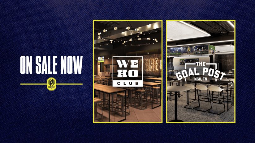 The WeHo Club and The Goal Post Club Memberships Now on Sale for Nashville SC Stadium