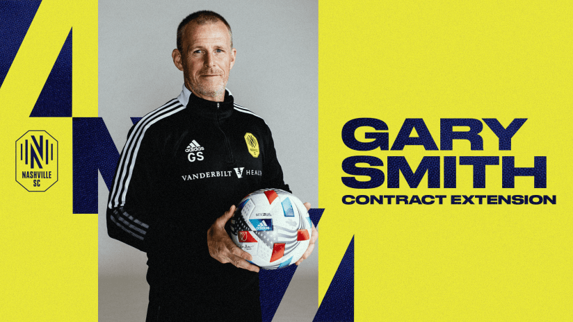 Nashville Soccer Club Extends Contract of Head Coach Gary Smith