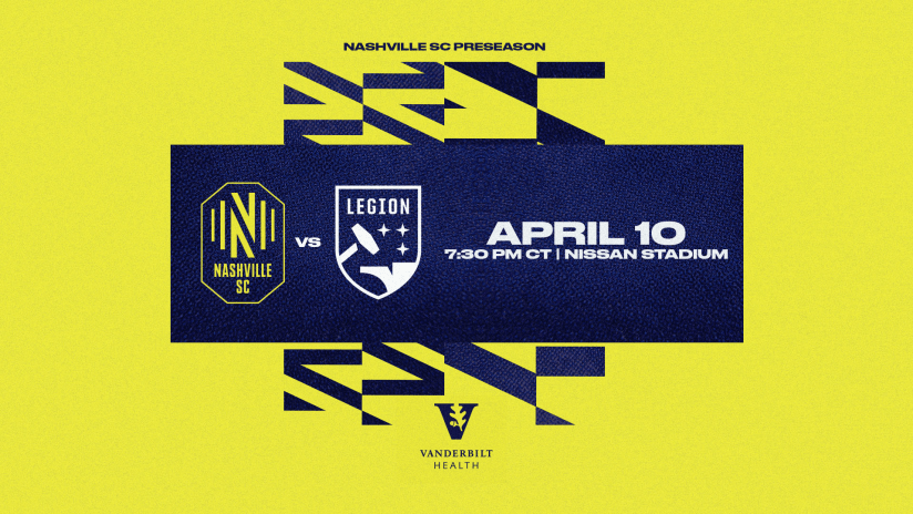 Nashville SC to Play Birmingham Legion FC in Final Preseason Match