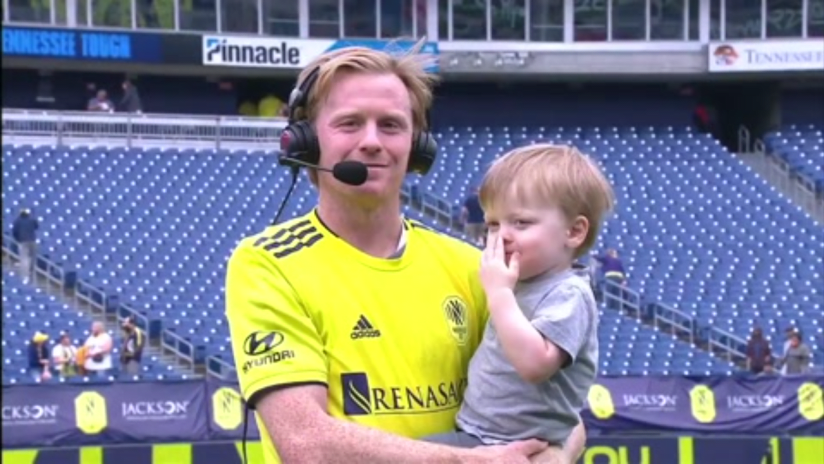 Dax McCarty's son steals the show in post-match interview