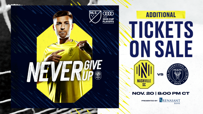 Additional Tickets on sale 11.20.2020