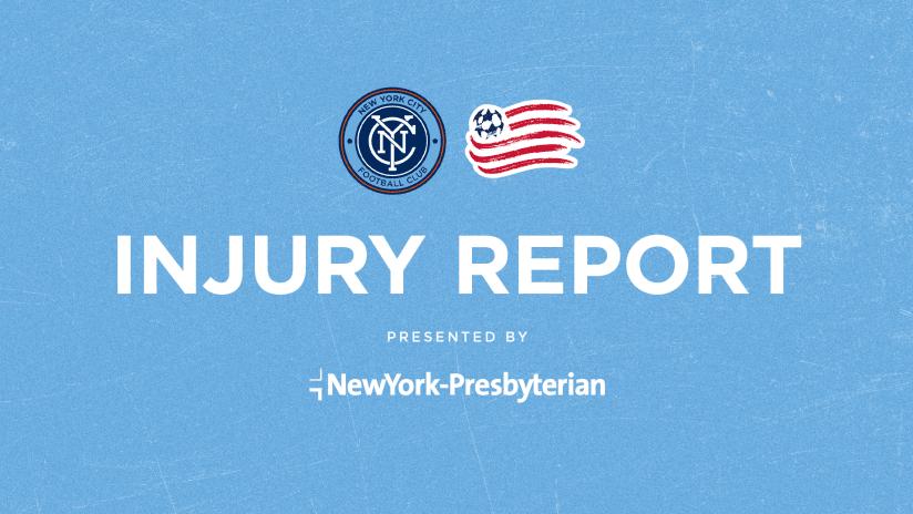 Injury Report NE REVS