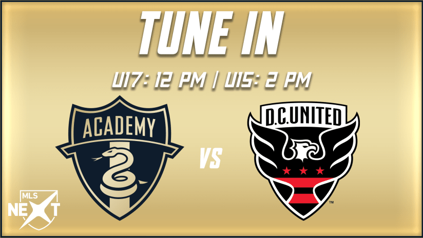 STREAM | Academy hosts rival D.C. United on Saturday