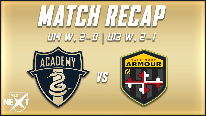 Academy | U14 and U13 complete sweep of Baltimore Armour