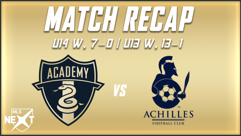 Academy | Younger sides put up offensive explosion in wins over Achilles FC