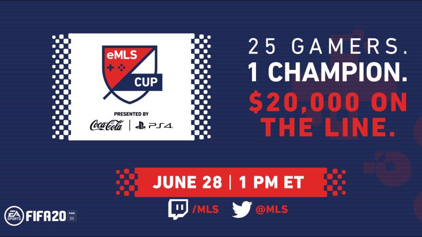 2020 eMLS Cup announce, 6.17.20