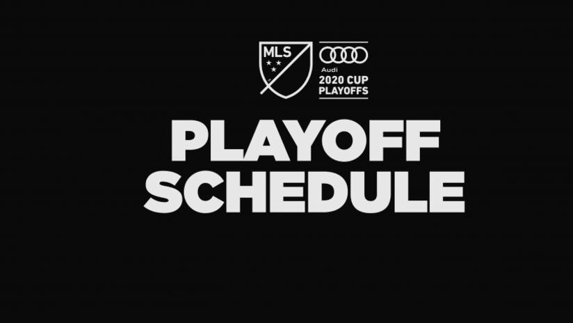 2020 MLS Playoff Schedule, 11.6.20