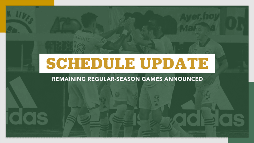 2020 Timbers final schedule, 9.22.20