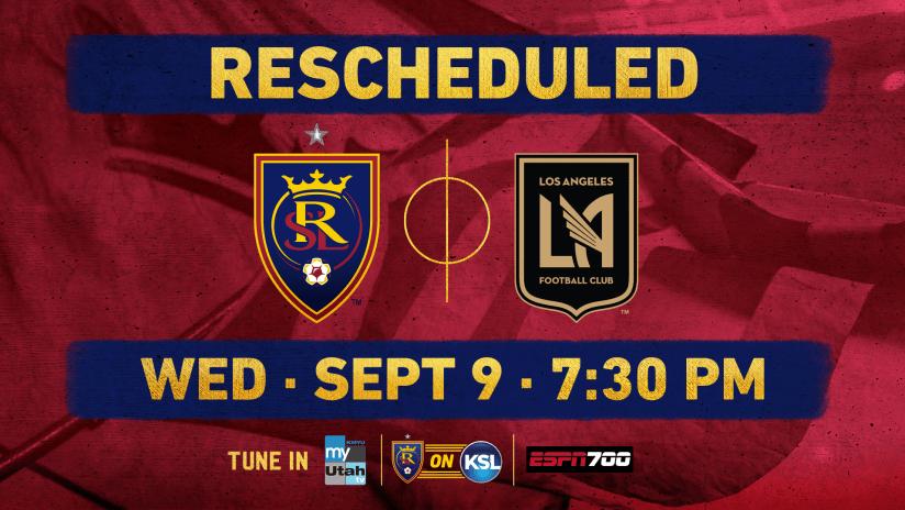 RSL vs LAFC Reschedule