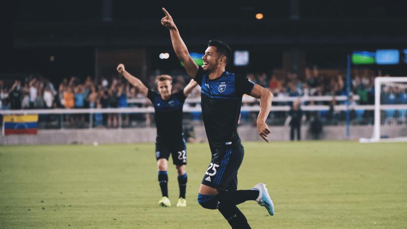 Andy Rios - Goal - 2019 - San Jose Earthquakes