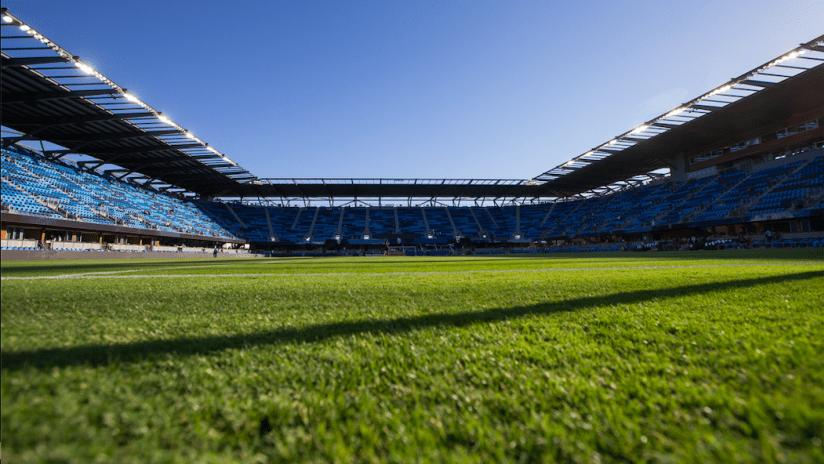 Stadium goal view
