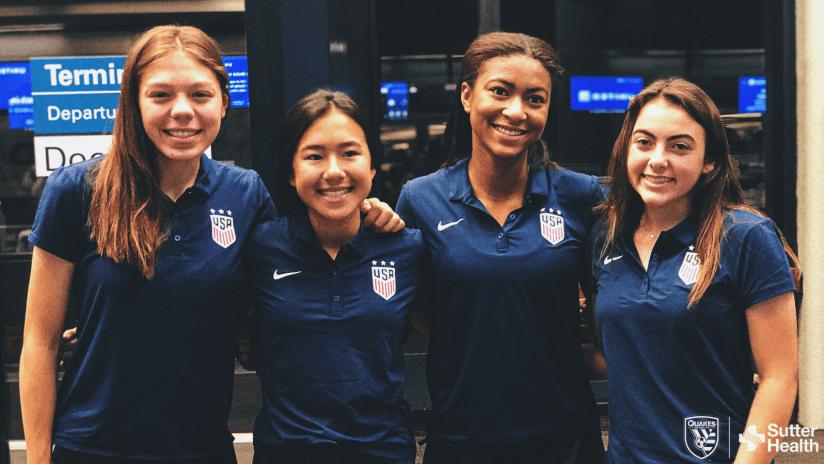 2019 - quakes academy - four girls - U-16 GNT