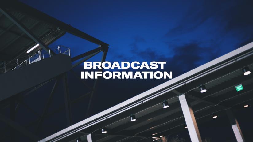 Broadcast info - 2021 season
