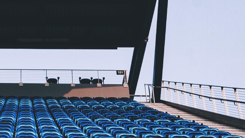 stadium golden light