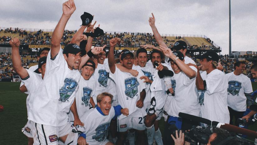 2001 MLS Cup Celebration Web