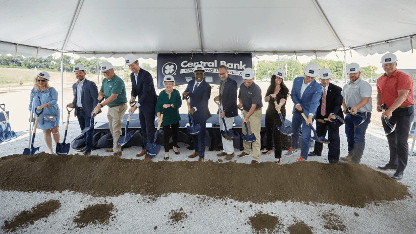 Central Bank Sporting Complex groundbreaking - Sporting KC