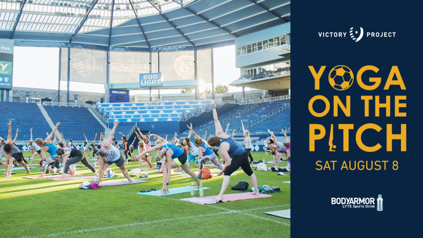 Yoga on the Pitch at Children's Mercy Park - Aug. 8, 2020