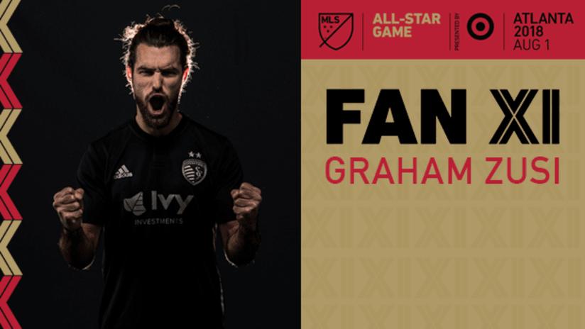 Graham Zusi 2018 MLS All-Star Fan XI DL - 2 Across
