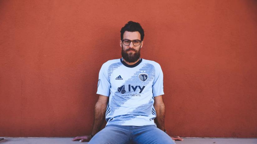 Sporting KC 2019 primary jersey unveil - Graham Zusi