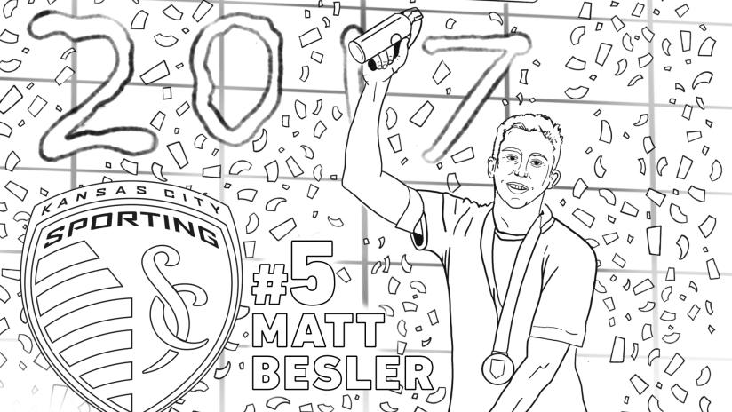 Matt Besler - Sporting KC coloring pages