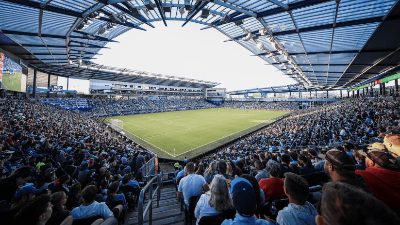 Children's Mercy Park corner at full capacity - Sporting KC vs. Houston Dynamo FC - May 29, 2021