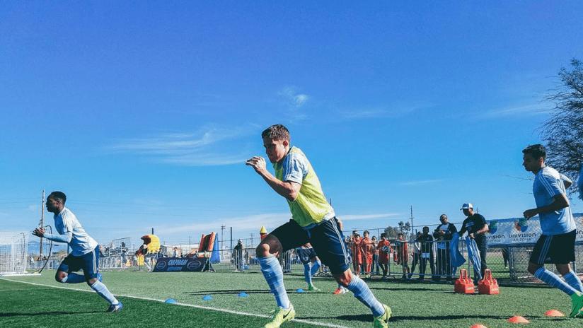 Matt Besler - Sporting KC preseason training